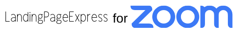 Landing Page Express for Zoom